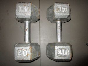 Weights dumbbell 40 lb pair for Sale in Blue Springs, MO