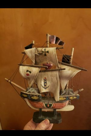 Vintage hand carved ship for Sale in Columbus, OH