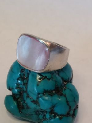 Sterling silver size 7+1/4 mother of pearl ring for Sale in Willow Street, PA