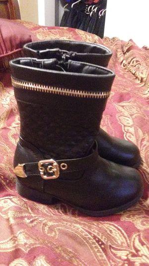 Super cute girl toddler size 7 black boots! for Sale in Kansas City, KS