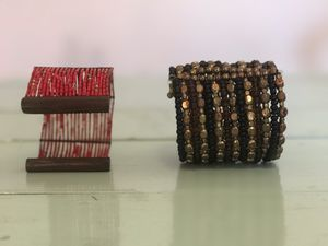 """* Red Tribal And """"Beaded Brass"""" Cuffs (Bracelets). For sale as a pair $43. for Sale in Columbus, OH"""