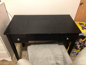 Black makeup vanity for Sale in Portland, OR