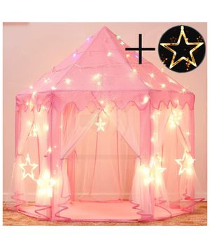 Princess Castle Tent for Girls Fairy Play Tents for Kids Hexagon Playhouse with Large Star Lights Toys for Children or Toddlers Indoor or Outdoor Gam for Sale in Corona, CA