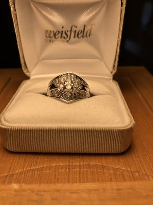 White gold and diamond ladies ring for Sale in Kingston, WA