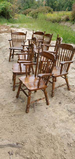 Wooden chairs 8 for Sale in Hinckley, OH