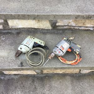 Pair of variable speed drill for Sale in Concord, MA