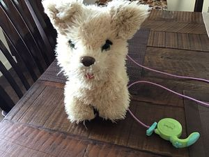 Animated plush dog that is speaking and barking at your convenience for Sale in Litchfield Park, AZ