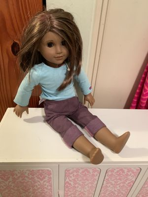 American girl doll, clothes, and retired armoire for Sale in Oviedo, FL