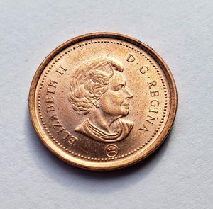 2010 Queen Elizabeth II Cwanadian Small Cent (Penny) Circulated for Sale in Orange, CA