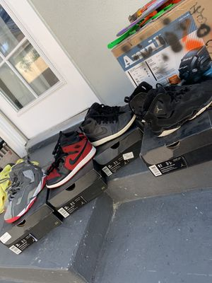 Used Jordan shoes kids size for Sale in Long Beach, CA