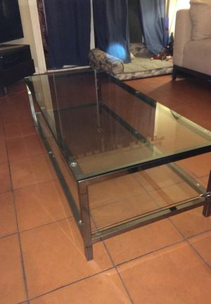 Silver Glass Coffee Table for Sale in San Diego, CA