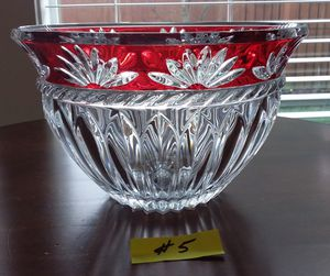 Mikasa corinth ruby round bowl for Sale in Puyallup, WA