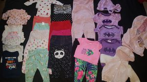 Baby girl clothes (pants & onesies) NB-3 months for Sale in Alexandria, VA