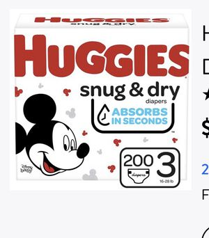 Huggie diaper for 3 for Sale in Houston, TX