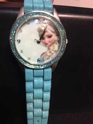 Disney Frozen Elsa Watch Womens Youth Blue Sparkle for Sale in Hemet, CA
