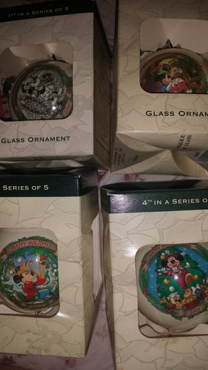 Vintage Disney collection Christmas balls for Sale in Snellville, GA