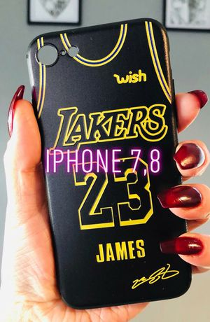 New iphone 7 or iphone 8 case rubber Lakers LeBron James basketball for Sale in San Bernardino, CA