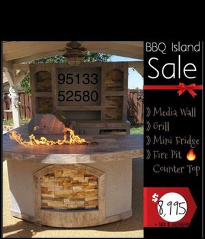 Backyard BBQ Island BBQ Grill patio furniture fire pit fireplace for Sale in Riverside, CA
