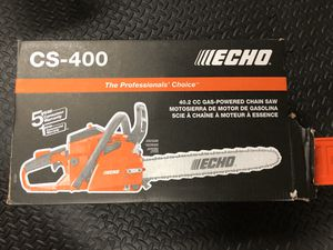 ECHO 18 in. 40.2 cc Gas 2-Stroke Cycle Chainsaw (New in Box) for Sale in Oviedo, FL