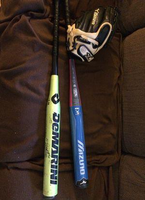 Softball baseball bats, gloves for Sale in Allison Park, PA