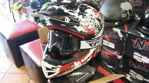 Downhill mountain bike helmet with goggles for Sale in Los Angeles, CA