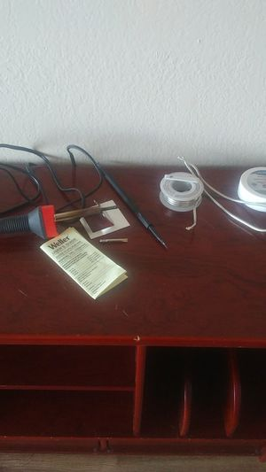 Weller soldering iron with extra tip,solder and flux for Sale in Las Vegas, NV