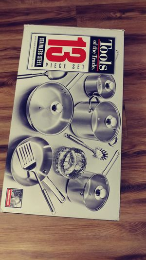 13 piece Stainless Steel Cookware set for Sale in Alexandria, VA