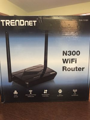 Trendnet n300 wifi router up to 300mbps for Sale in Tampa, FL