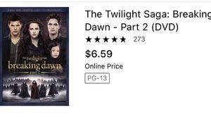 The twilight saga movies dvd for Sale in Glendale, AZ
