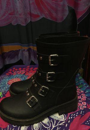 BLACK STEVE MADDENS RAIN BOOTS SIZE 7 for Sale in Oklahoma City, OK