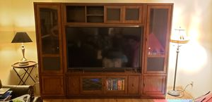 "BEAUTIFUL ENTERTAINMENT CENTER (solid wood, up to 70"" tv) for Sale in Federal Way, WA"