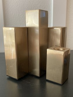 Modern Geometric Brass Candelabra for Sale in Tualatin,  OR