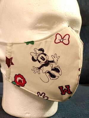 Handmade Masks Disney Minnie & Mickey . 100% Cotton . Reusable. 3M Filter. 5 Layers of Protection and comfort for Sale in Orlando, FL