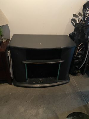 Black TV Stand (Can hold 42 inch flat screen) for Sale in Fresno, CA