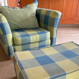 Patterned Couch and Ottoman for Sale in Laurel, MD