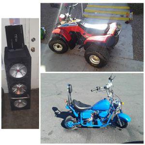 Adult Quad,Chopper,Car Sound System for Sale in North Las Vegas, NV