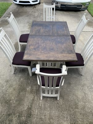 Farmhouse Dining Set (6 Chairs) for Sale in Orlando, FL