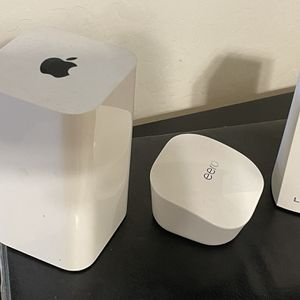 Wifi Router Eero Mesh 3 Pack, Linksys Mesh 2 Pack, or Apple Extreme for Sale in Chandler, AZ