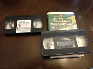 Mickey Xmas Carol and Grinch VHS for Sale in Edmonds, WA