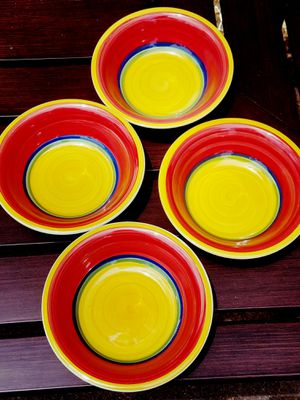 MULTI COLORED ROYAL NORFOLK BOWL SET (4) for Sale in Fairfax, VA