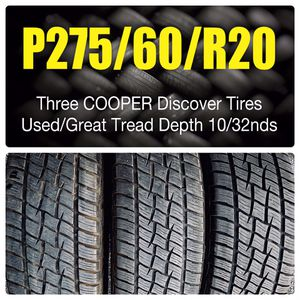 P275/60/R20 Three COOPER Discover Tires for Sale in Allentown, PA