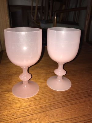 Antique Rosaline style wine glasses by Carder Steuben for Sale in Olympia, WA