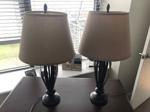 Brown metal lamp set for Sale in Chicago, IL