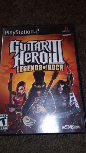 Guitar hero 3 legends of Rock PlayStation 2 game ps2 for Sale in Las Vegas, NV