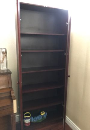Large cabinet wood closet 6 shelves for Sale in Fountain Valley, CA