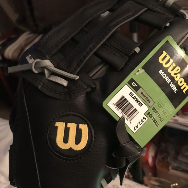 Brand new softball glove with tag