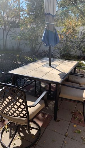 Great patio set with cushions excellent condition for Sale in Denver, CO
