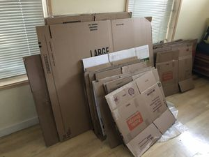 FREE MOVING BOXES - All sizes, most one move old. No bugs, I promise! for Sale in Berkeley, CA
