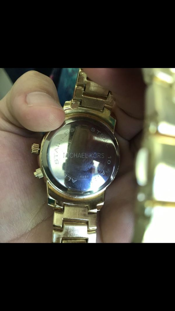 Mk Michael kors gold tone unisex watch