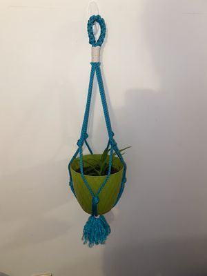 Simple knot Macrame Plant hanger (pot not included for Sale in El Paso, TX